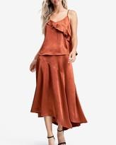 Express En Saison Asymmetrical Midi Skirt