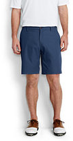 "Lands' End Men's Classic Fit 9"" Mi-Pro Golf Shorts-Vicuna Heather"
