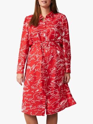 Studio 8 Dawn Scribble Shirt Dress, Red