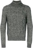 Corneliani turtleneck cable knit sweater