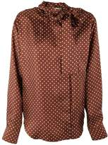 Mulberry Polka Print Blouse