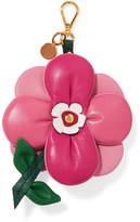 Prada Flower Textured-leather Keychain - Pink