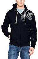 Crosshatch Men's Goslio CH Zip Thru Symbol Prnt Hoodie