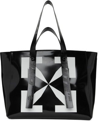 Off-White Black Leather Arrow Tote