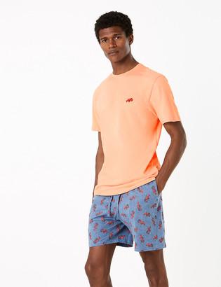 Marks and Spencer Pure Cotton Lobster Print Pyjama Set
