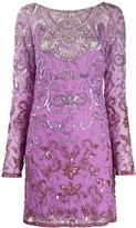 Just Cavalli embroidered long-sleeve dress