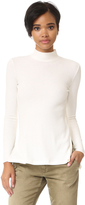 Enza Costa Heather Rib Mock Neck Top