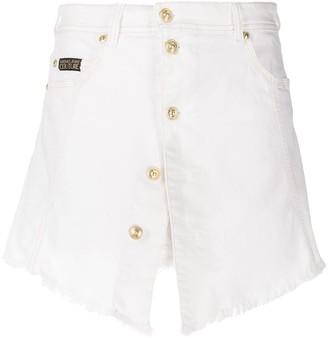 Versace Button-Up Denim Skirt