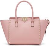 Valentino Pink Small Rockstud Zip Tote