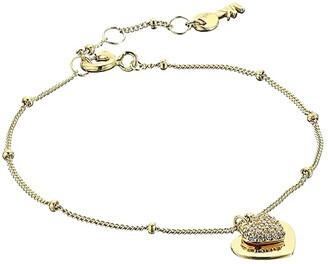 Michael Kors Precious Metal-Plated Sterling Silver Pave Heart Bracelet (Gold) Bracelet
