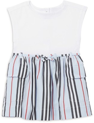 Burberry Kids Cotton Icon Stripe Dress