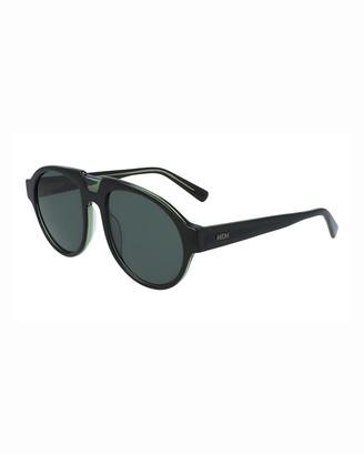 MCM Men's Architectural Gradient Aviator Sunglasses