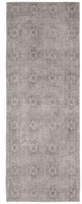 """French Connection Jaylen Jacquard Cotton Light Gray Area Rug Rug Size: Runner 1'8"""" x 5'"""