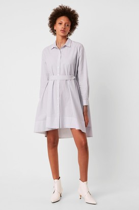 French Connenction Sibyl Cotton Belted Shirt Dress