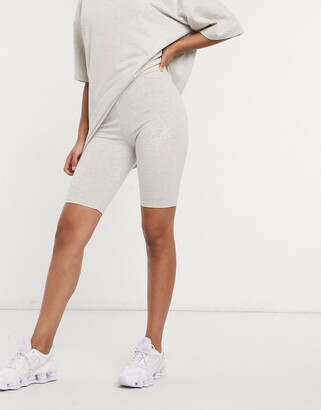 The Couture Club signature bodycon short in grey marl