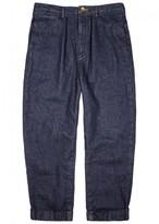 Maison Mihara Yasuhiro Indigo Tapered-leg Denim Trousers