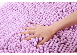 "Freshmint Chenille Bath Mat Lavender 16.5X24"""
