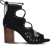 Nine West Gweniah suede laser-cut sandals