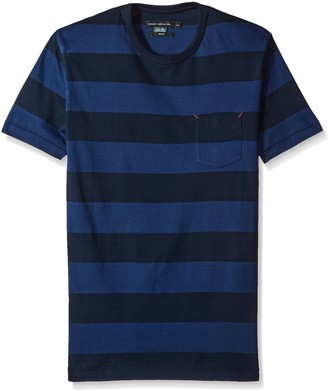 French Connection Men's Varsity View Stripes Slim Crew
