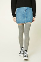 Forever 21 Ribbed Knit Over-the-Knee Socks