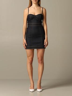 Just Cavalli Dress Bodice Denim Dress