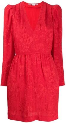 Stella McCartney knitted brocade floral dress