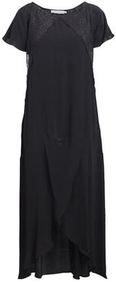 Rabens Saloner - Kora Dress - viscose | black | Large - Black/Black