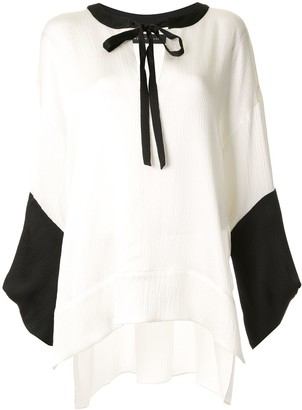 Roland Mouret Ciro loose-fit satin blouse