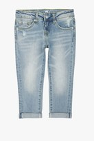 7 For All Mankind Girls 4-6x Josefina 5-Pocket Skinny Boyfriend Jeans In Light Sky