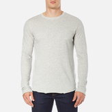 Edwin Men's Terry Long Sleeve TShirt - Grey Marl