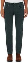 Pt01 Men's Cotton Twill Slim Trousers-GREEN