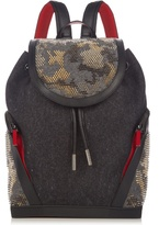 Christian Louboutin Explorafunk Felt And Spike-embellished Backpack