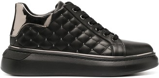 Baldinini Quilted Stud Low-Top Sneakers