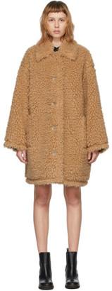 Stand Studio Beige Faux-Fur Jacey Coat