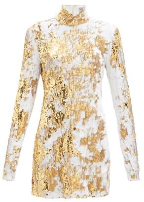 Preen by Thornton Bregazzi Liona High-neck Sequinned Dress - Gold