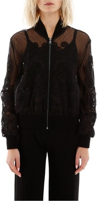 RED Valentino Lace Bomber Jacket