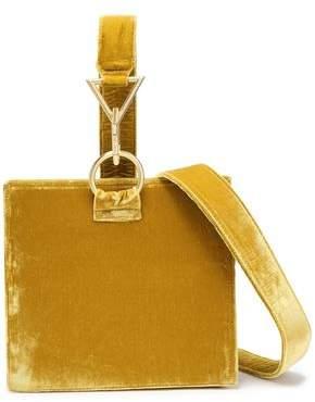 Tara Zadeh Velvet Shoulder Bag
