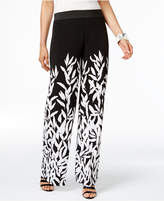 Alfani Petite Printed Wide-Leg Pants, Only At Macy's