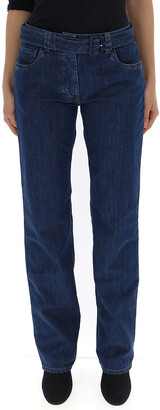 Prada Belted Straight Jeans