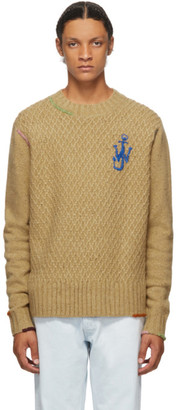 J.W.Anderson Brown Knit Crewneck Sweater