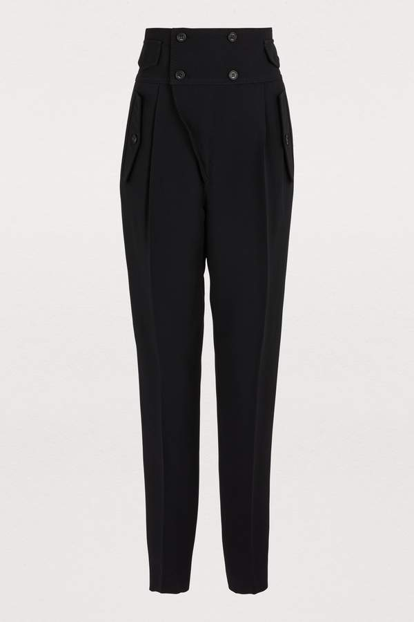 19156e35 High Waisted Double Button Pants - ShopStyle