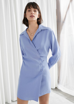And other stories Asymmetric Mini Shirt Dress