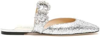 Jimmy Choo Glitter Mules With Jewelled Buckle