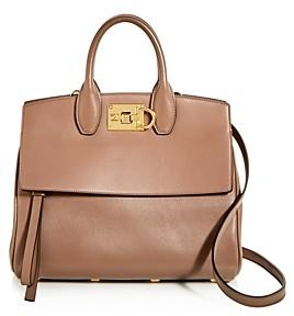 Salvatore Ferragamo Studio Bag Small Leather Satchel