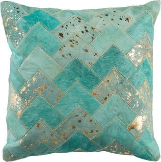 Safavieh Ezla Metallic Cowhide Pillow