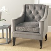Safavieh Sherman Mushroom Taupe Cotton Fabric Arm Chair
