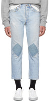 B Sides Indigo Two Patch Jeans