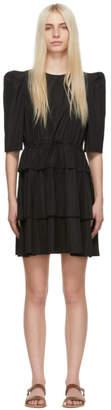 See by Chloe Black Ruffle Dress