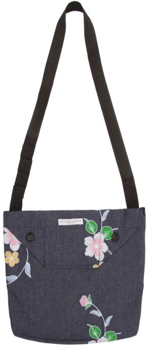 Engineered Garments Indigo Denim Floral Mini Shoulder Pouch