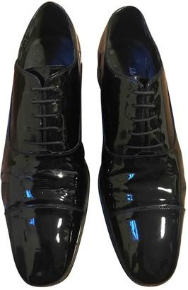 Salvatore Ferragamo Black Patent leather Lace ups